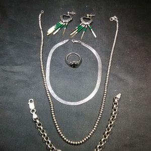 Vintage Silver jewelry lot womens unisex 925